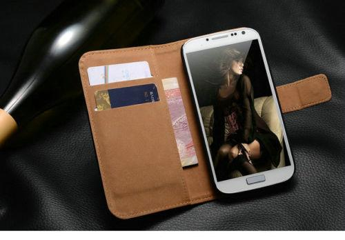 Real Genuine Wallet For Samsung Galaxy S8 S9 S7 Luxury Leather Book Flip Case