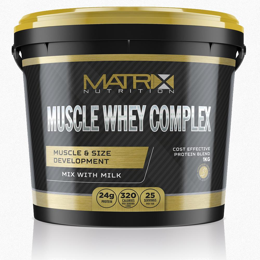 WHEY PROTEIN- COMPLEX- MUSCLE GAIN- ALL FLAVOURS & SIZES