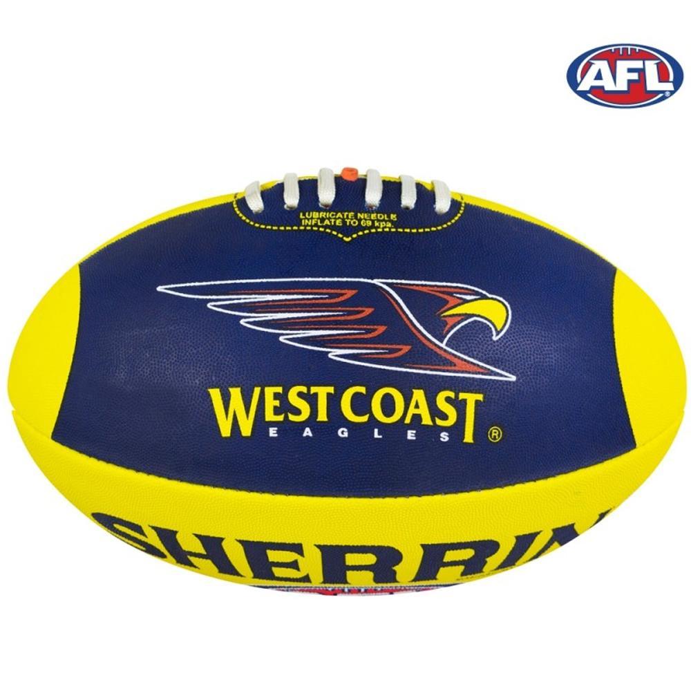 Sherrin Size 5 Club Afl Football West Coast Eagles From