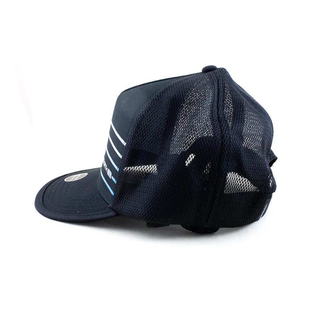 Adjustable Ocean and Earth Mens Kuta Black Mesh Trucker Surf Hat