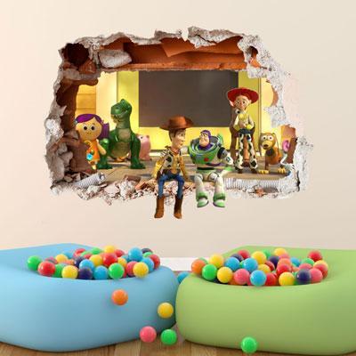TOY STORY WALL STICKER 3D BOYS GIRLS BEDROOM VINYL WALL ART DECAL | eBay