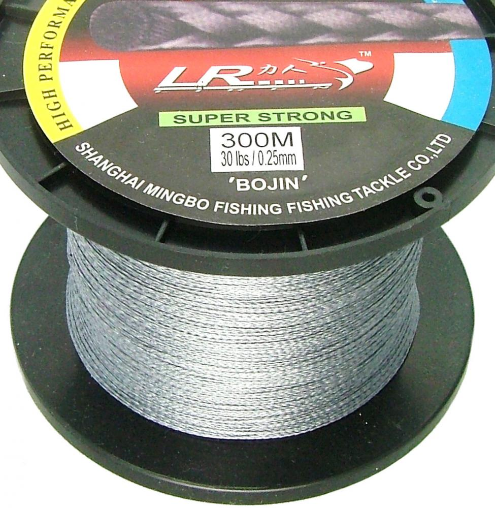 Lr braid fishing line 30lb 300m grey made from 100 for 30 lb fishing line