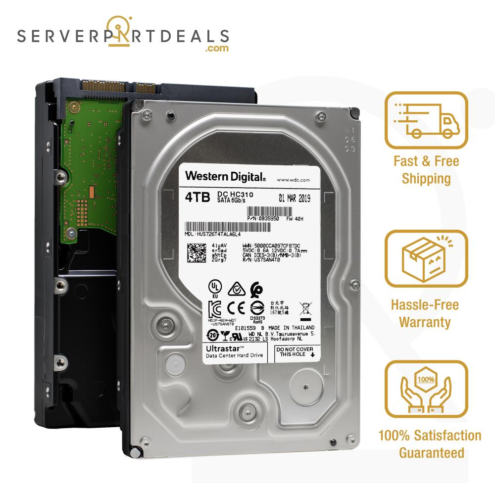 "WD 4TB Ultrastar DC HC310 7200RPM SATA 3.5/"" Data Center Internal Hard Drive"