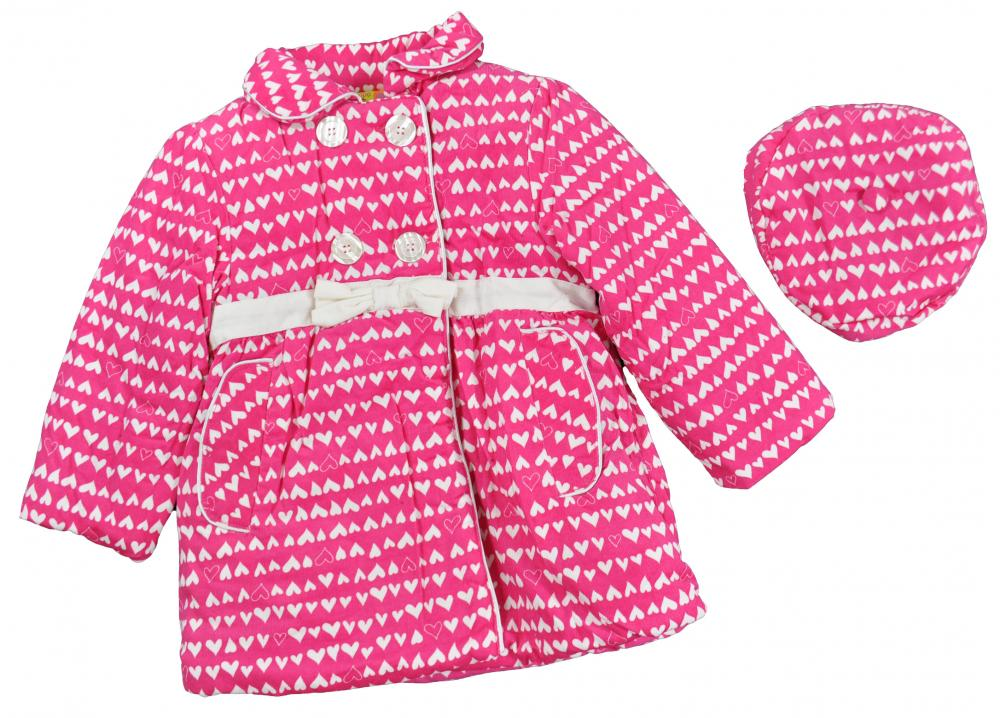 Penelope Mack Toddler Girls Rasberry Part Wool Jacket W//Hat Size 2T