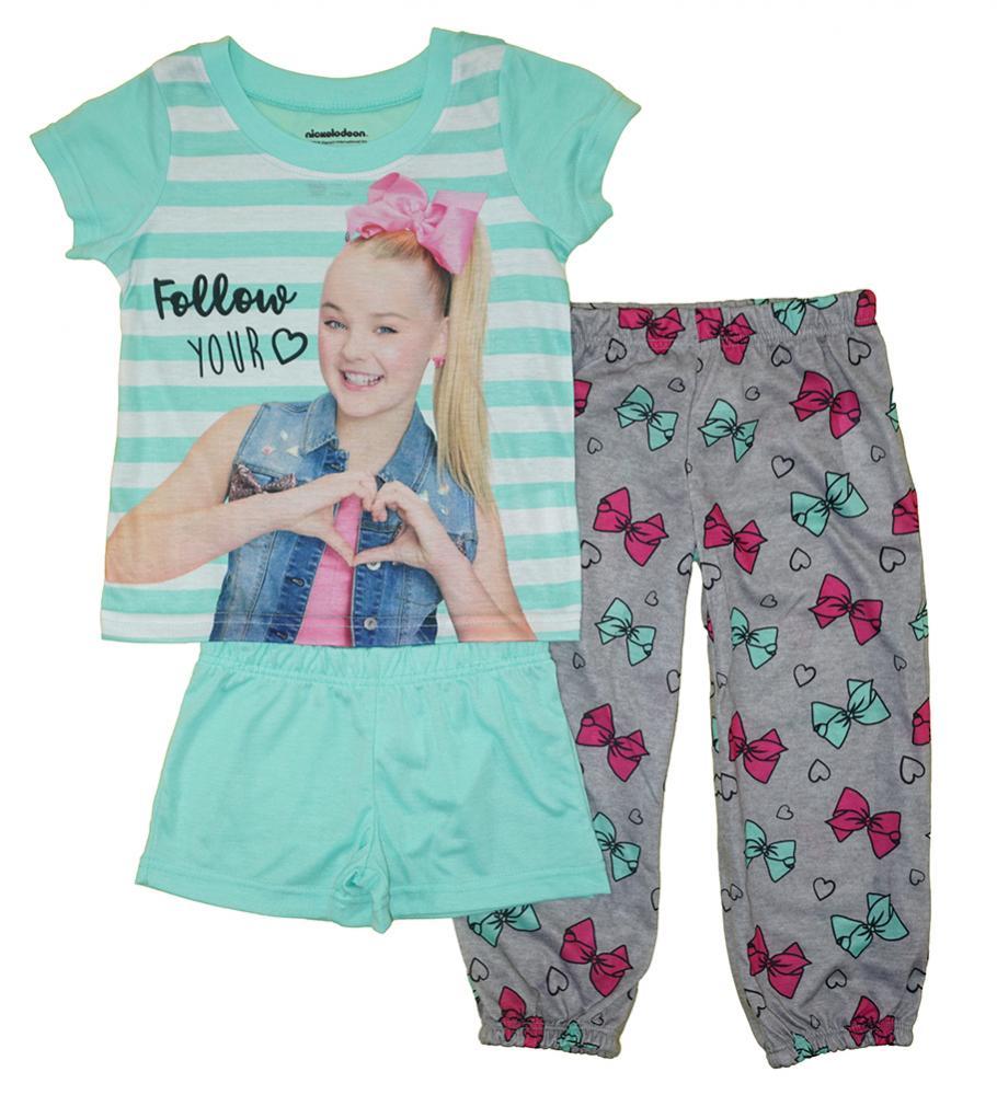 ded093a81 Jojo Siwa Girls Three-Piece Pajama Set Size 4 6 8 10  40