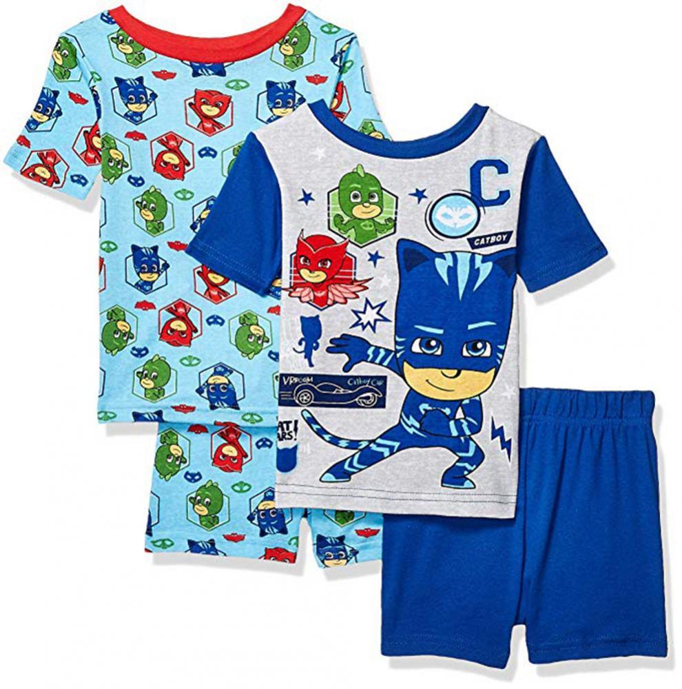 Pj Masks Little//Big Boys 4pc Snug Fit Pajama Pant Set Size 4 6 8 $48