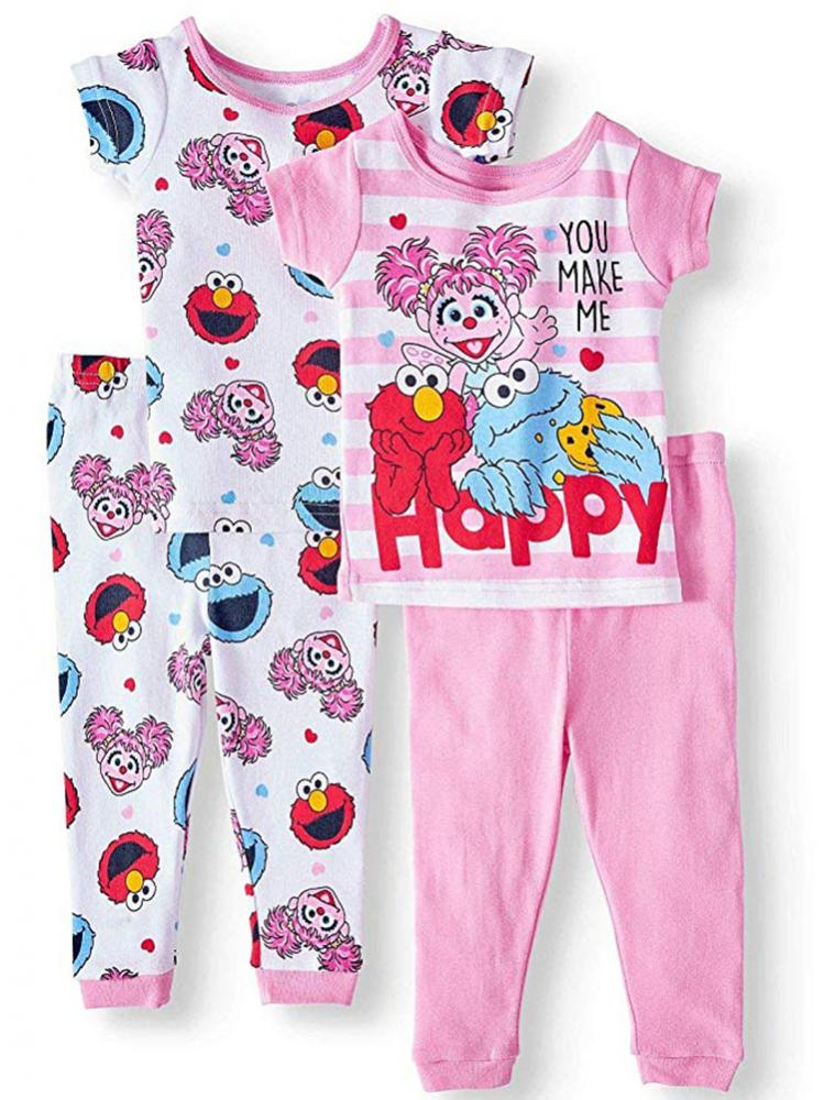 Shimmer /& Shine Toddler Girls 4pc Snug Fit Pajama Pant Set Size 2T 3T 4T