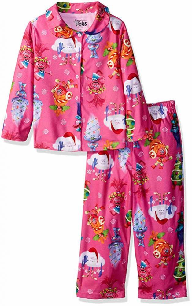 Clothing, Shoes & Accessories Trolls Toddler Girls Multi Color Three-piece Pajama Short Set Size 2t 3t 4t $36
