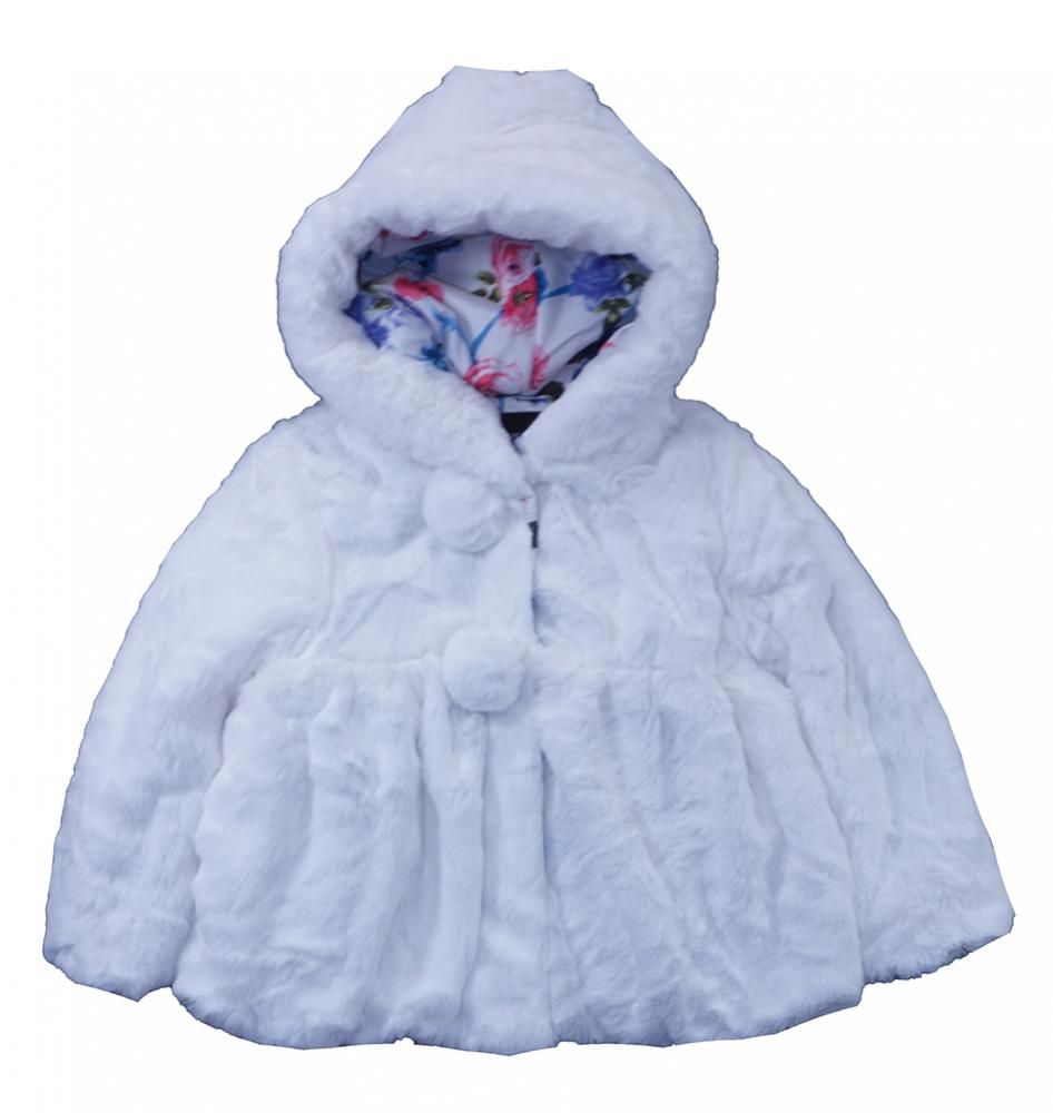 0ed585798915 Rothschild Toddler Girls Vanilla Faux Fur Teddy Plush Coat Size 2T ...