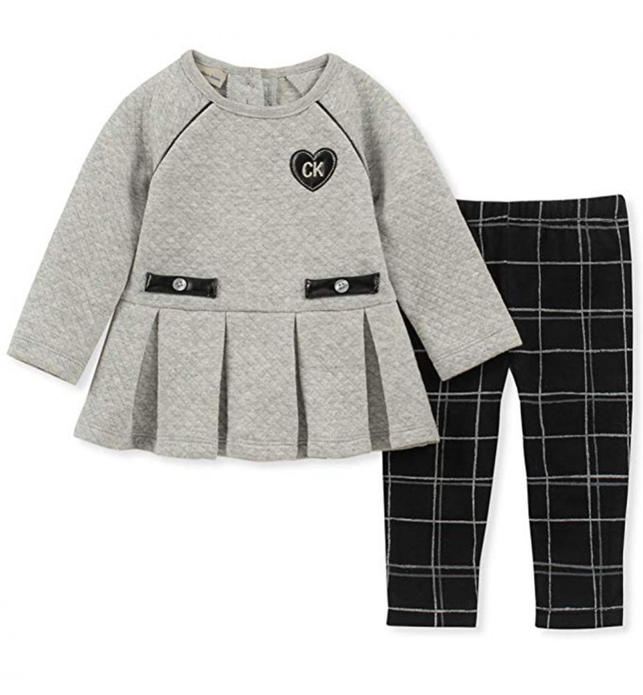 Small Wonder Infant Girls L//S Top 2pc Legging Set Size 0//3M 3//6M 6//9M $12.99