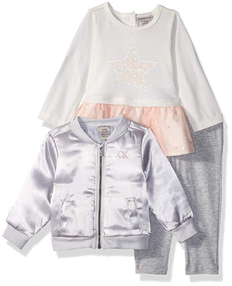 Child Of Mine By Carter/'s Infant Girls Puffer Jacket Size 3//6M 6//9M 12M 18M 24M