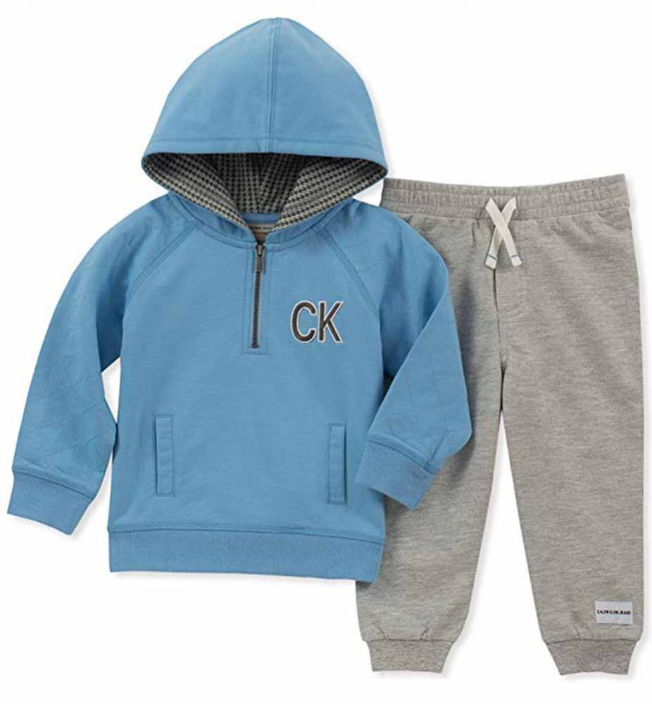 e940297f049c Calvin Klein Infant Boys Blue Hoodie 2pc Pant Set Size 3 6M 6 9M 12M 18M 24M