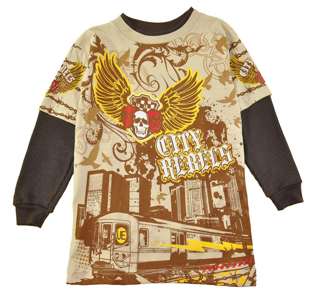Spider-Man Toddler Boys L//S Yellow Character Print Top Size 2T 3T $12.99