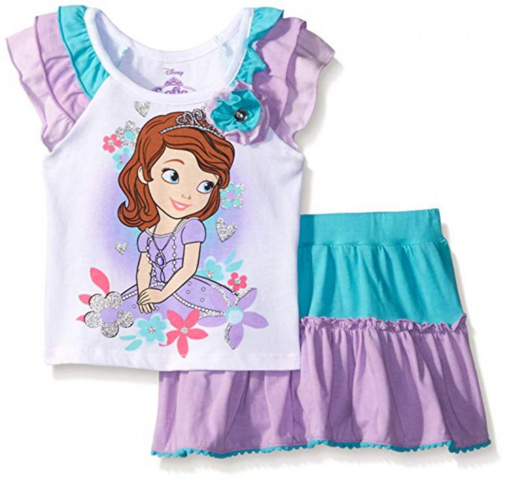 Sofia The First Disney Princess Tunic Outfit Hood  2T 3T 4T Girl Clothes Toddler