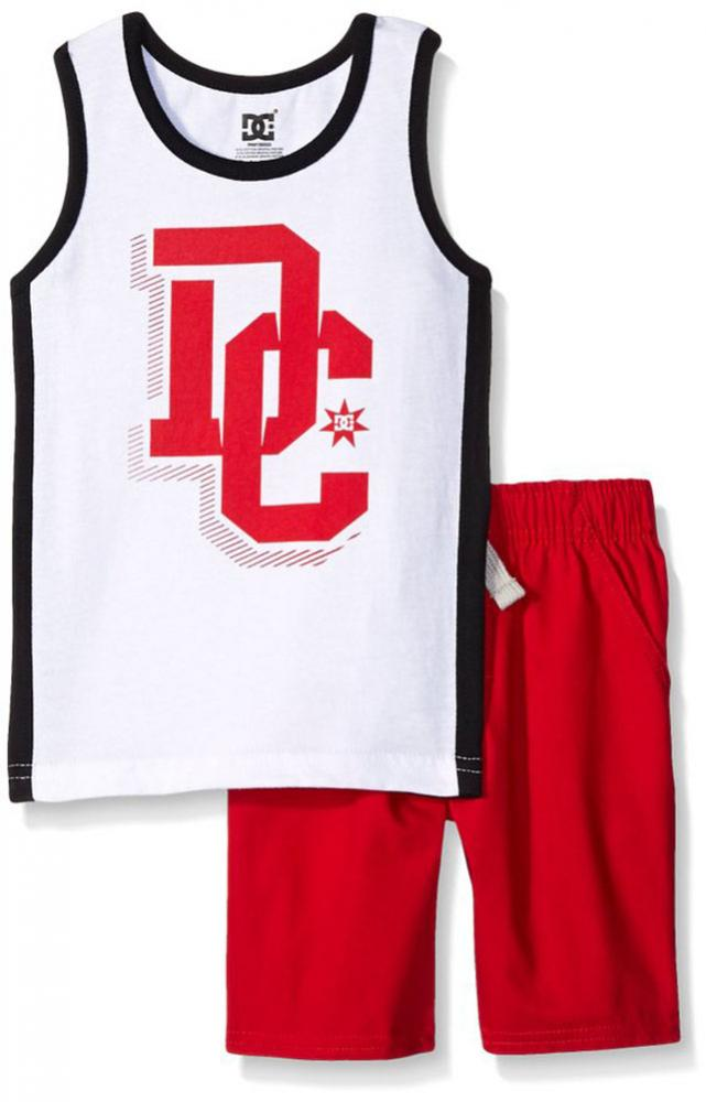 DC Shoes Toddler Boys S//S Red Logo Top 2pc Short Set Size 3T 4T $49.50