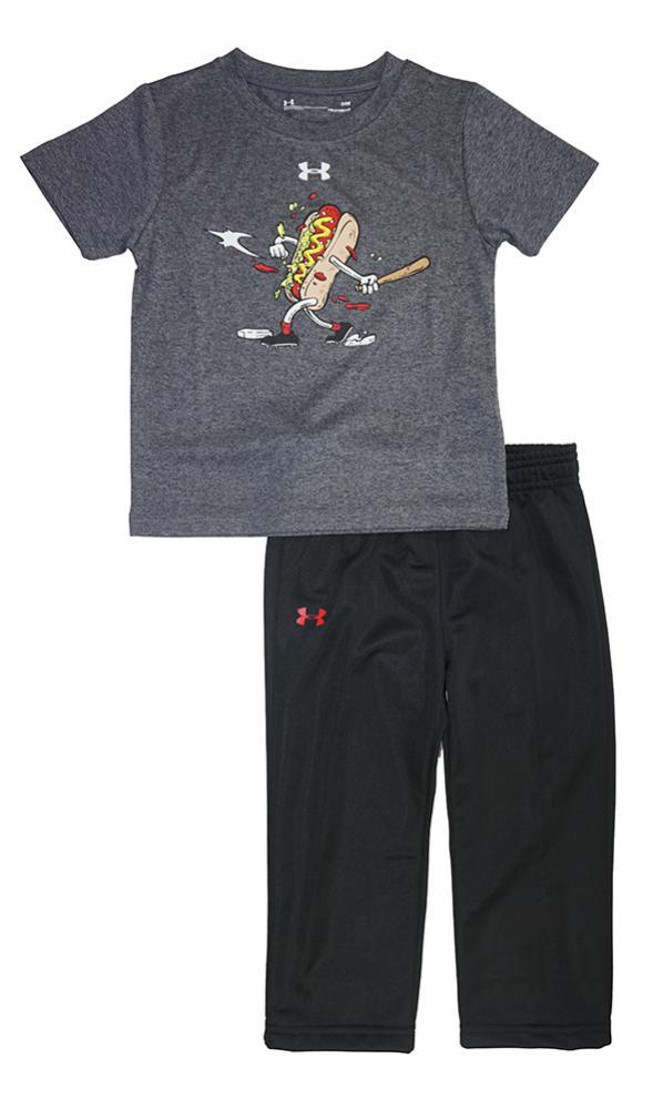 6d7c81e5058 Under Armour Infant Boys Carbon Hot Dog Dry Fit Top 2pc Pant Set Size 24M