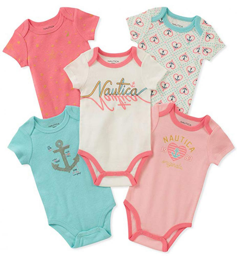 Timberland Infant Boys Four-Pack Bodysuits Size 0//3M 3//6M 6//9M $42