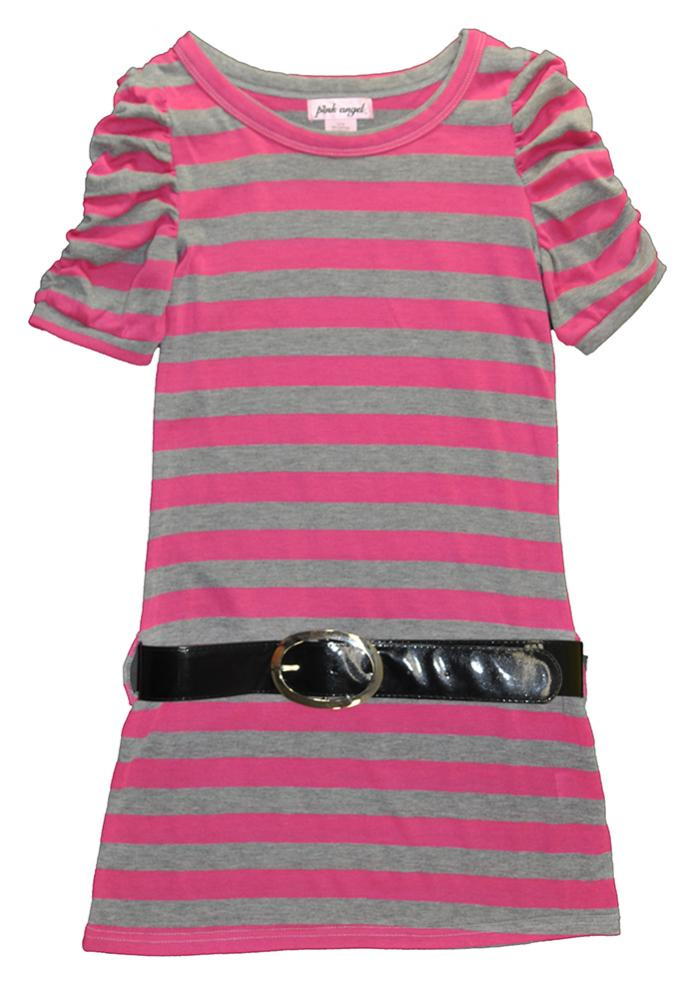 XOXO Girls Lilac /& White Heart Print Shirt Dress Size 2T 4T 4 5//6 $46