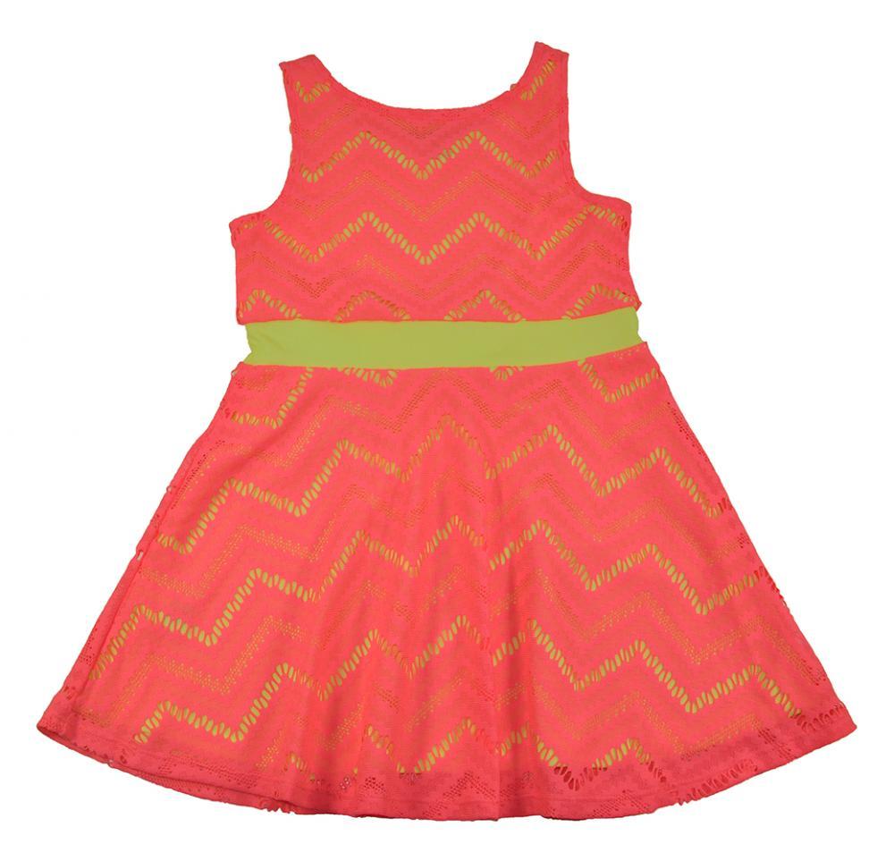 Sweet Vintage Girls Black /& Neon Eyelet Bow Detail Dress Size 4 5 6 6X $25.99