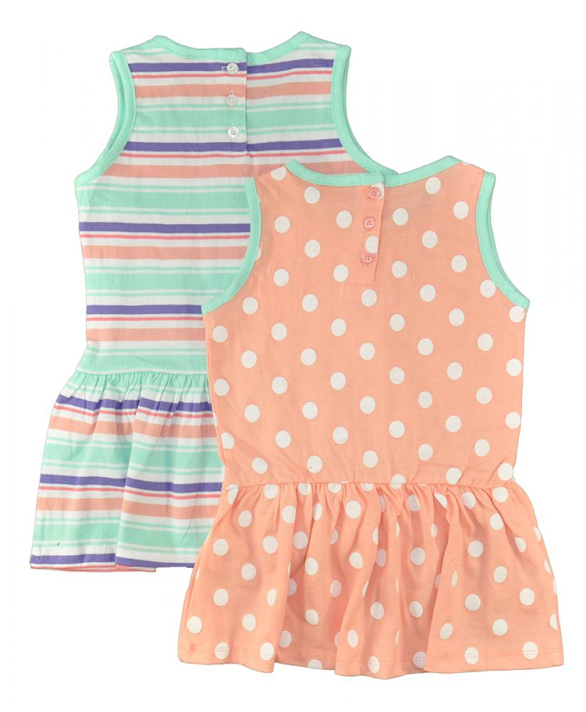 US Polo Assn Toddler//Little Girls/' 2Pack Sleeveless Dress Set 2T 3T 4T 4 5 6 6X