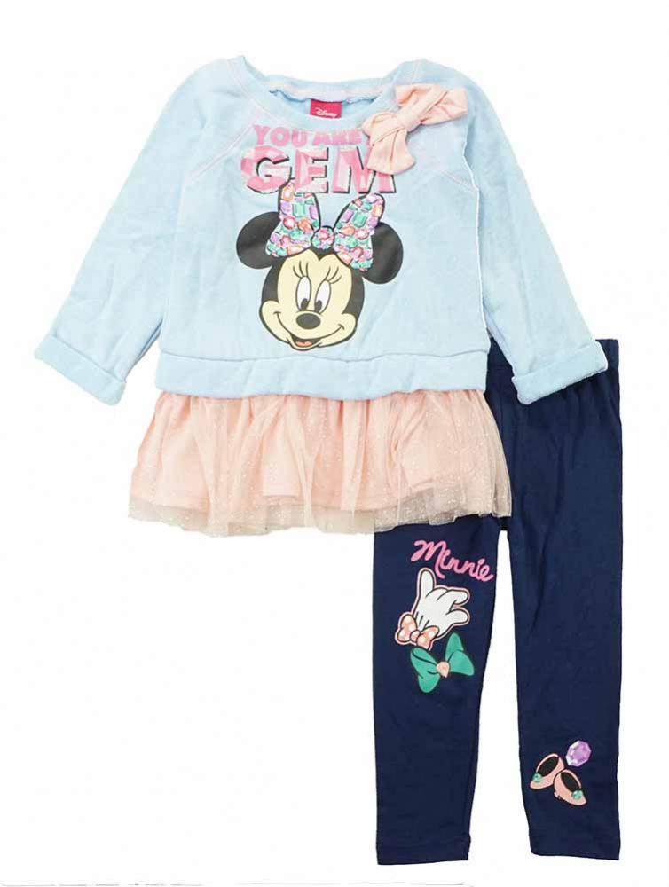Nautica Girls Pink Vest 3pc Legging Set Size 2T 3T 4T 4 5 6 6X