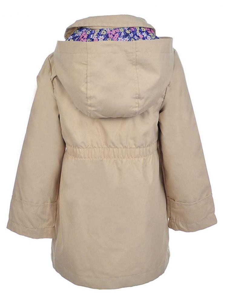 Osh Kosh B/'gosh Toddler Girls Khaki Hooded Trench Coat Size 2T 3T 4T