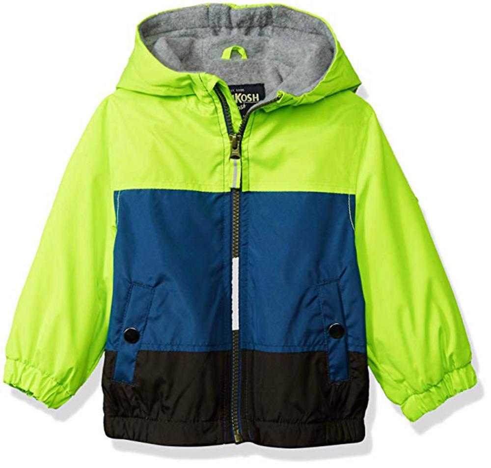 ea60e516a Osh Kosh B'gosh Toddler Boys Green & Blue Fleece Lined Jacket Size 2T 3T 4T