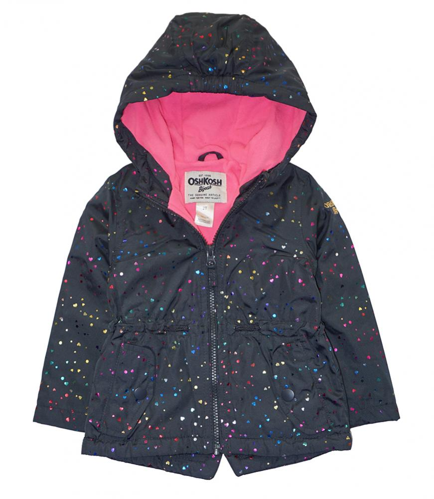 Osh Kosh B/'gosh Girls Heart Print Fleece Lined Jacket Size 2T 3T 4T 4 5//6 6X