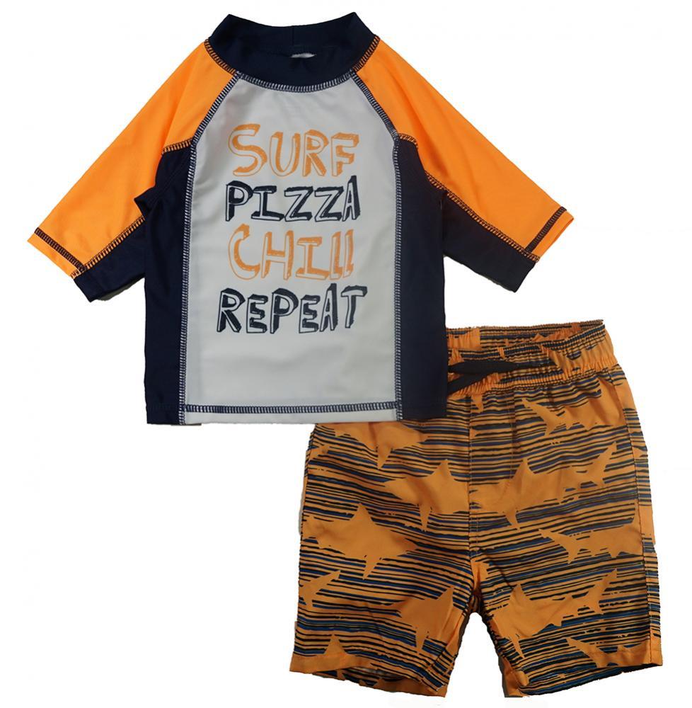 from Aeropostale Boys Palm Tree Rashguard Swim Set Size 2T 3T 4T 4 5 6 7 P.S