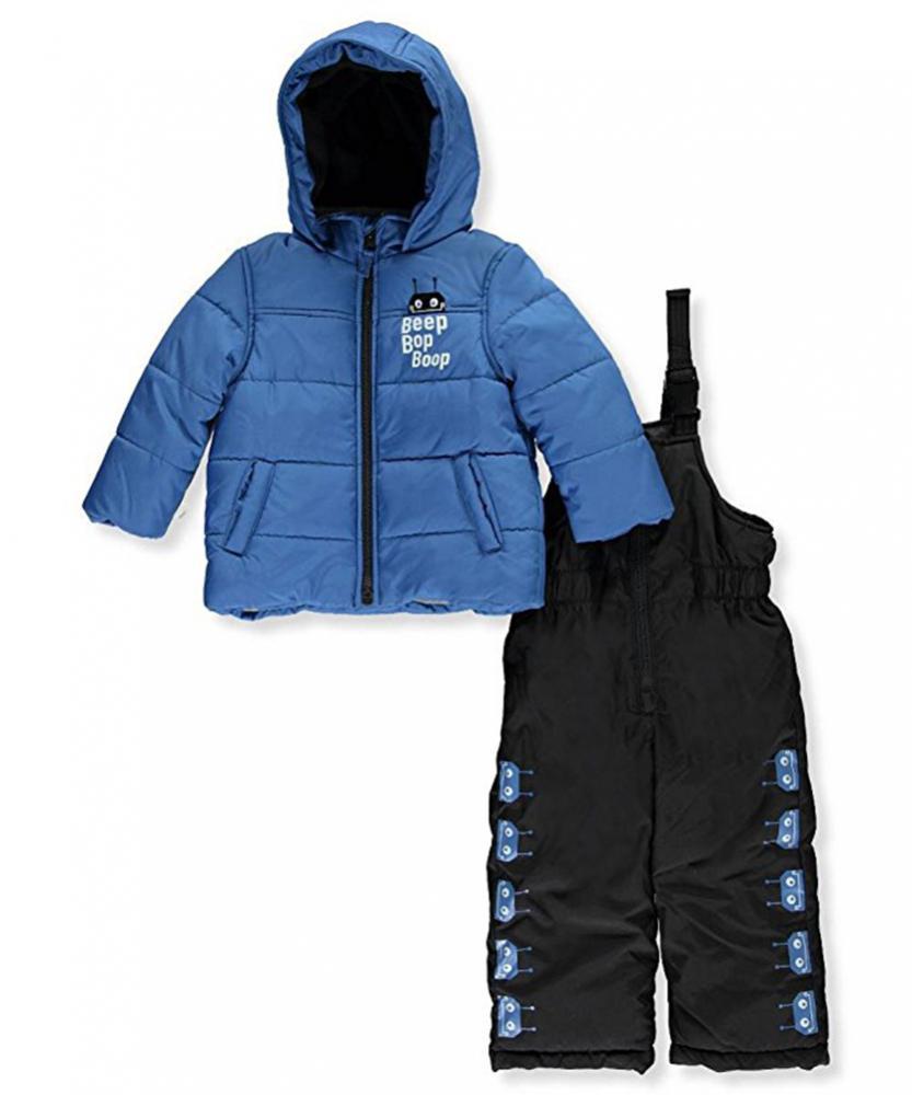 Carter/'s Infant Boys Blue Robot 2pc Snowsuit Size 12M 18M 24M