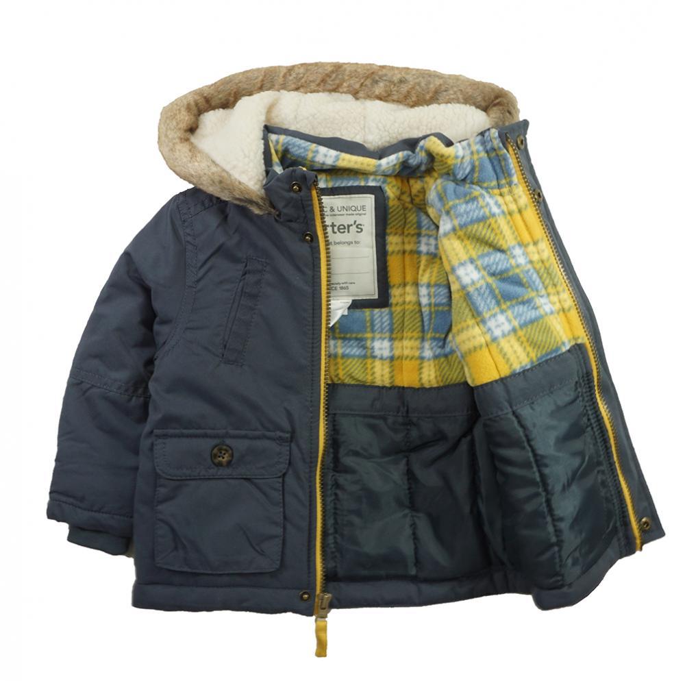Carter/'s Boys Blue Fleece Lined Jacket Size 2T 3T 4T 4 5//6 7