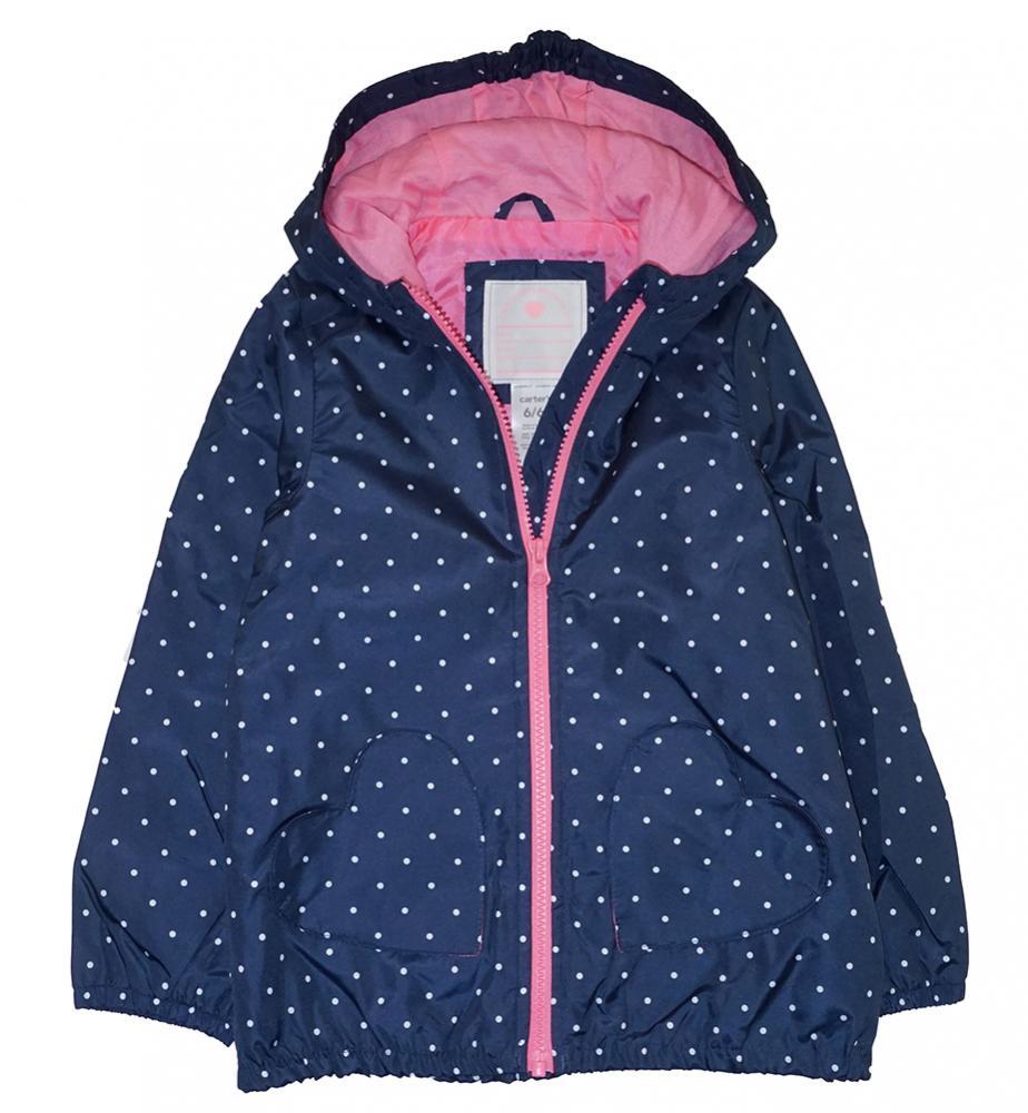 4f9232d4b1e9 Carter s Little Big Girls Windbreaker Jacket Size 2T 3T 4T 4 5 6 6X ...
