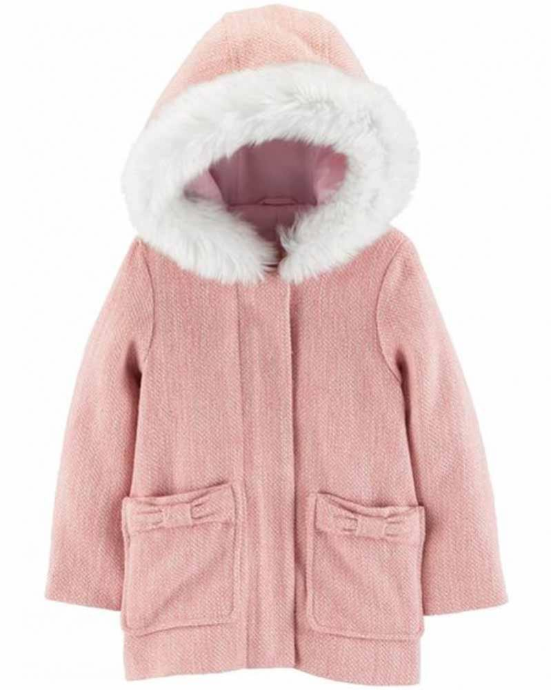 Osh Kosh B/'gosh Toddler Girls Double Breasted Faux Wool Jacket Size 2T 3T 4T
