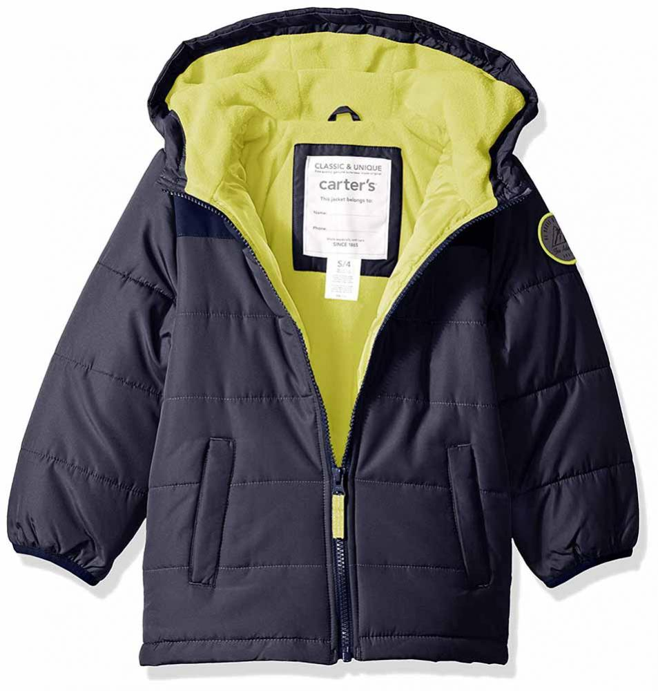 Carter/'s Boys Blue Fleece Lined Jacket Size 2T 3T 4T 5 6 7