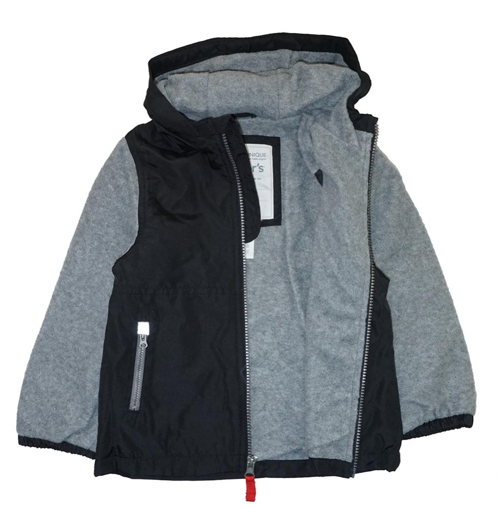 292a96ba7844 Carter s Toddler Boys Black   Grey Fleece Lined Jacket Size 2T 3T 4T ...