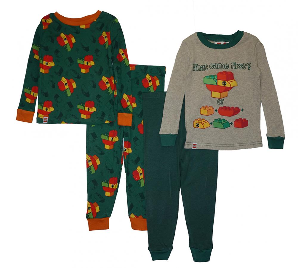 Top Wing Toddler Boys 4pc Snug Fit Pajama Pant Set Size 2T 3T 4T