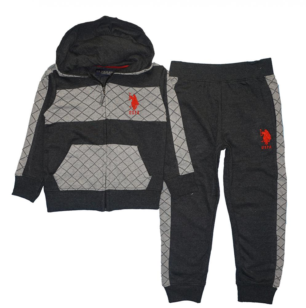 US Polo Assn Boys Hoodie 2pc Sweat Pant Set Size 2T 3T 4T 4 5//6 7