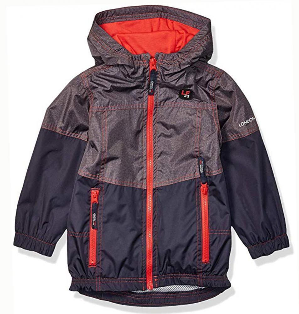 London Fog Boys Navy /& Neon Yellow Puffer Jacket Size 4 5//6 7