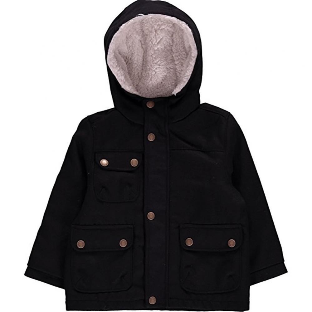 London Fog Toddler Boys Navy Blue Faux Wool Jacket Size 2T 3T 4T