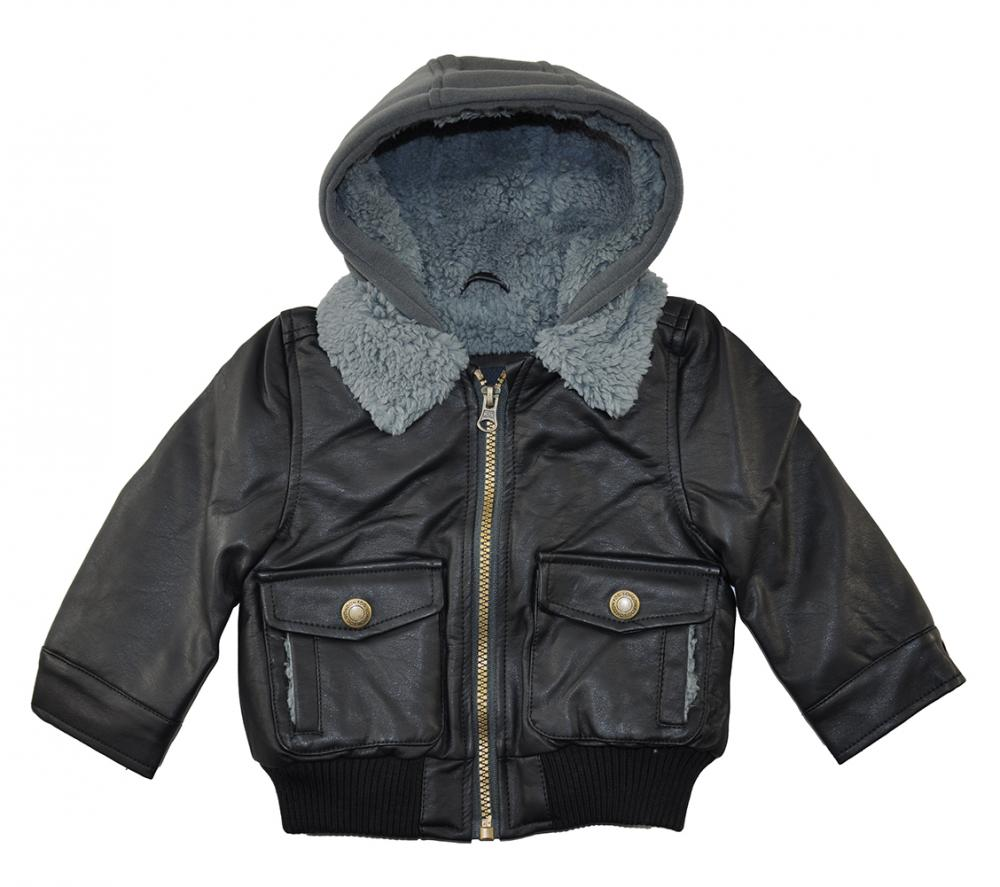 Toddler black leather jacket