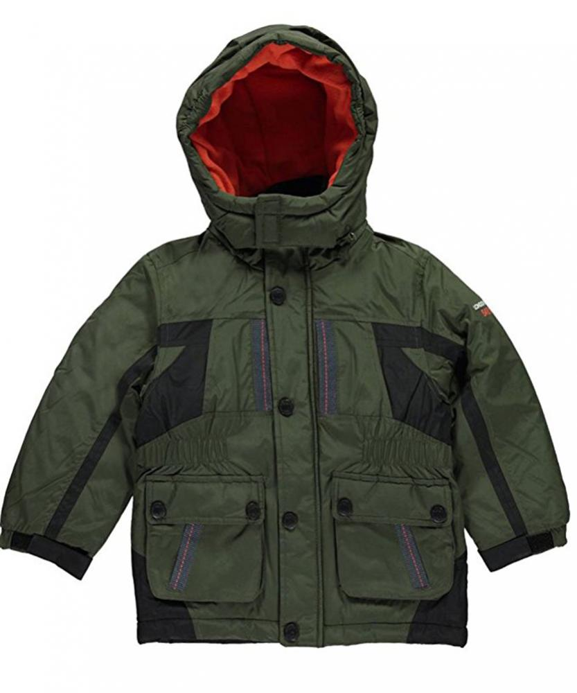 London Fog Toddler Boys Olive Green /& Black Tech Cargo Jacket Size 2T 3T 4T