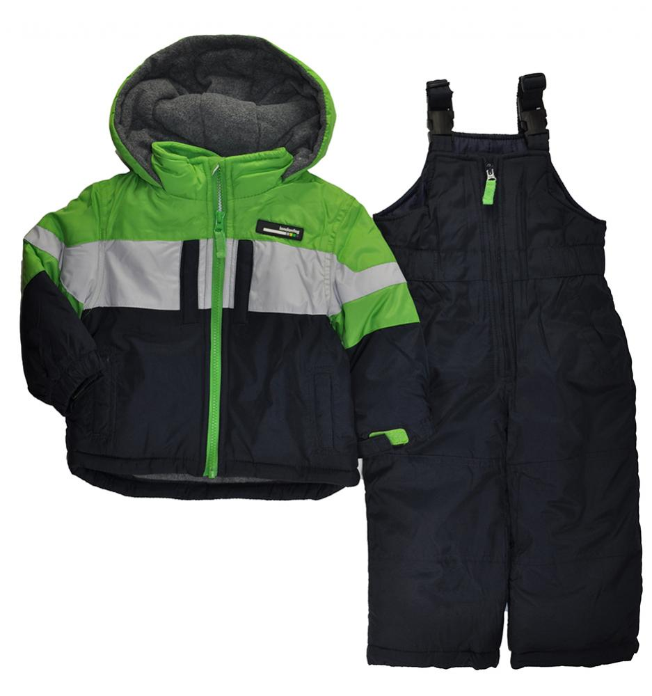 115cd871c London Fog Infant Boys Green   Navy Blue Snowsuit Size 12M 18M 24M ...