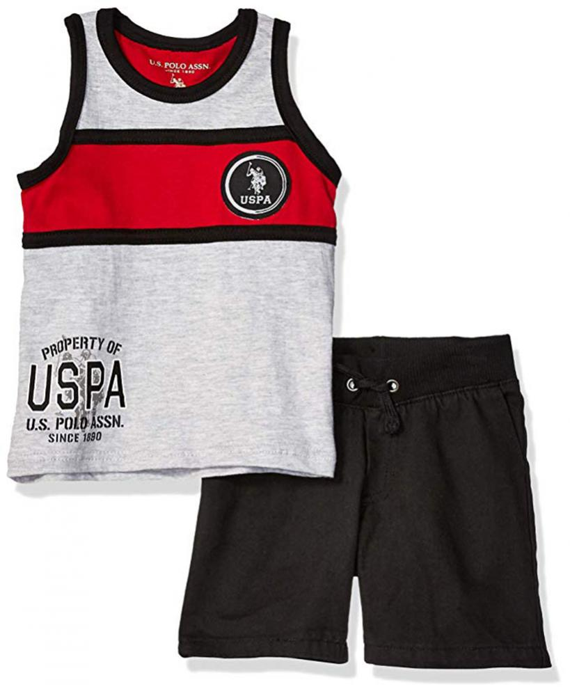 US Polo Assn Boys S//S Polo 2pc Short Set Size 2T 3T 4T 4 5//6 7