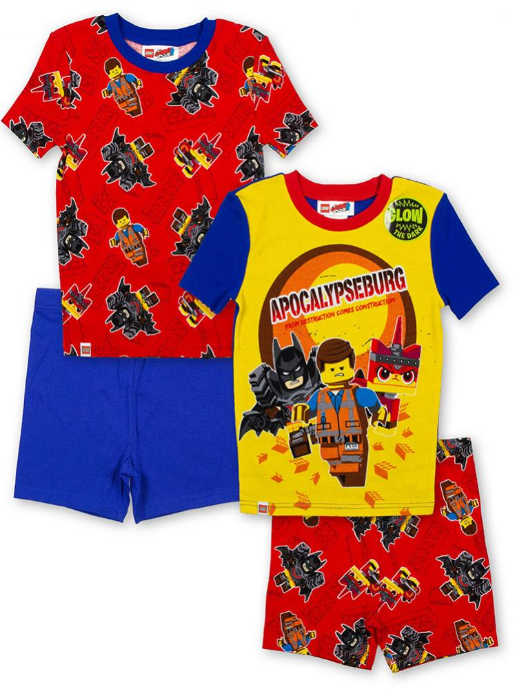 Lego Star Wars Boys 4pc Snug Fit Pajama Pant Set Size 4 6 8 10
