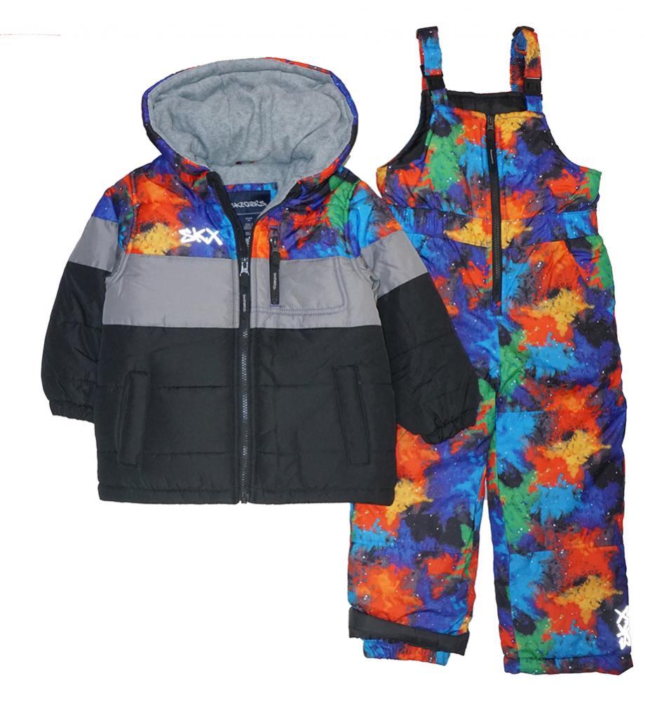 235d88fa01b9 Skechers Infant Boys Multi Color 2pc Snowsuit Size 12M 18M 24M