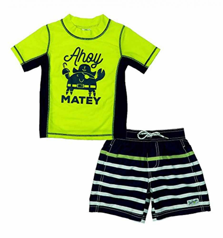 Kiko /& Max Infant Boys Navy 2pc Rashguard Swim Set Size 3//6M 6//9M 12M 18M 24M