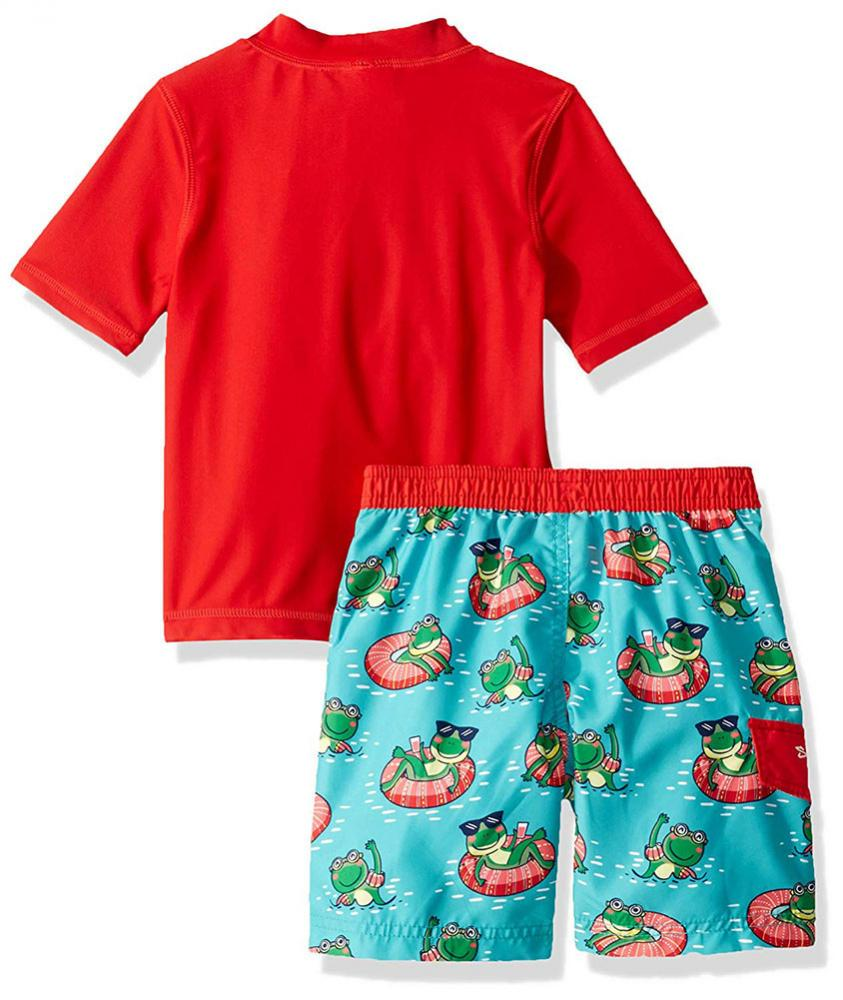 Carter/'s Toddler Boys/' Green Rashguard Swim Top Size 4T $28