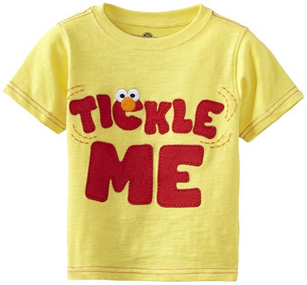 Sesame Street Toddler Boys Yellow Elmo Tickle Me Top Size 2T 3T 4T
