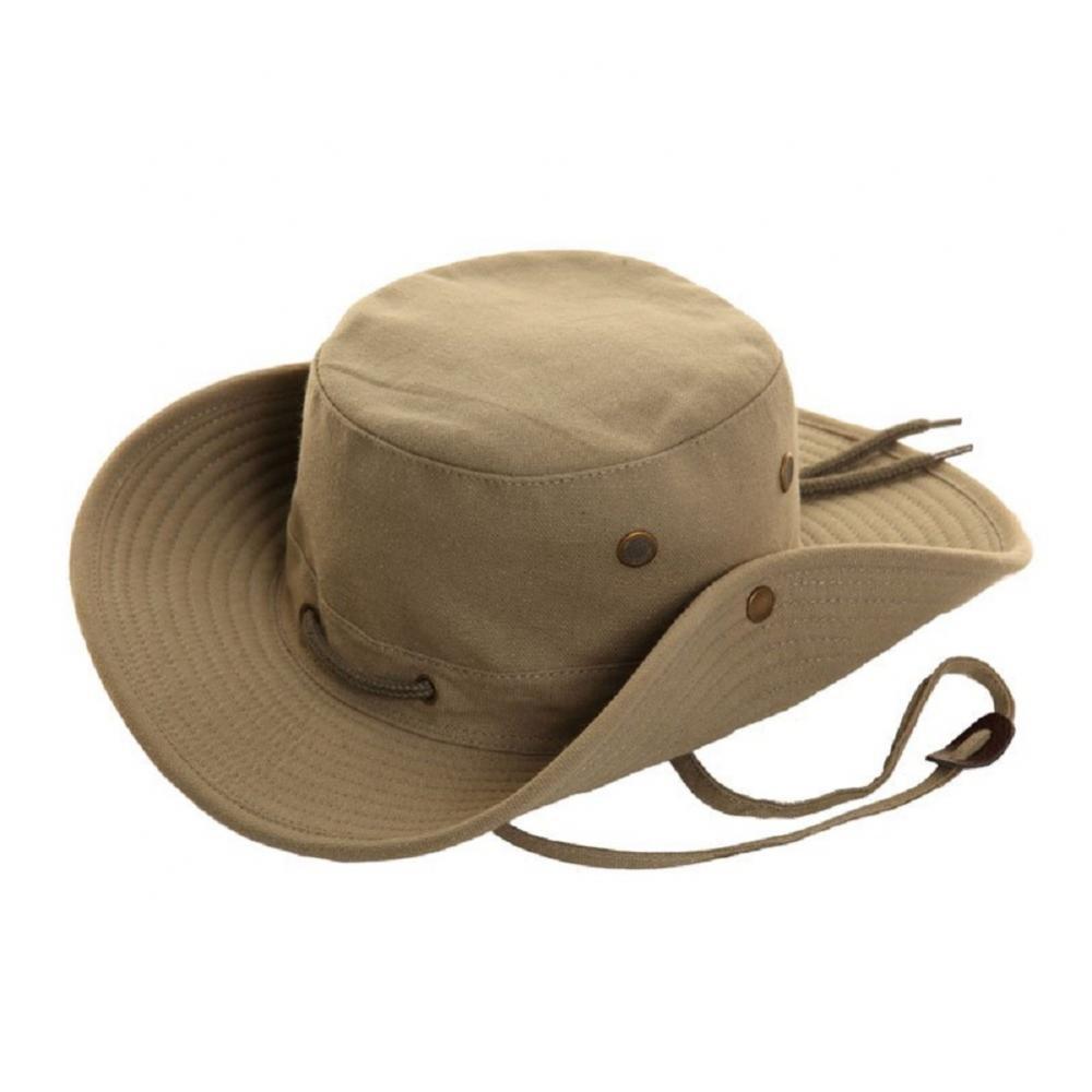 cd43d99766ff5c Mens Ladies Canvas Aussie Bush Safari Wide Brim Summer Sun Hat 3 Colours 4  Sizes