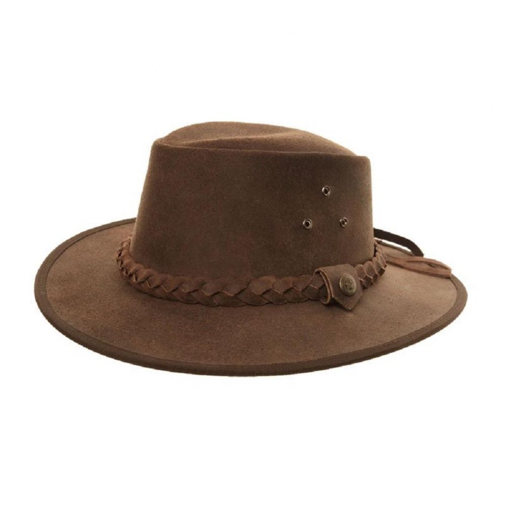 Details about Mens Ladies Chocolate Brown Australian Aussie Leather Bush Cowboy  Hat XL 60cm ecc2478bfcc